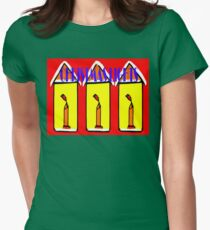 CHRISTMAS LIGHTS Womens Fitted T-Shirt