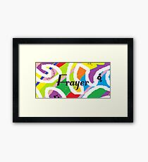 Frayer - Original painting personalized with your name Framed Print