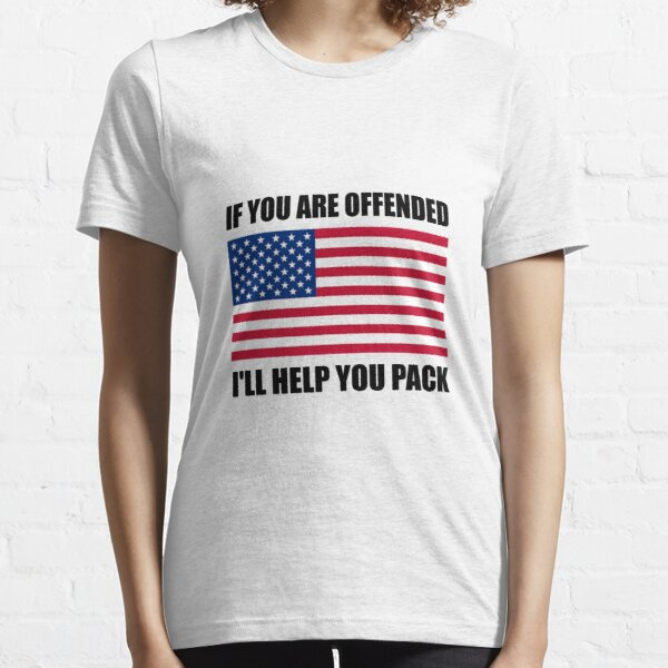 Beleidigtes USA Flag Help Pack Essential T-Shirt