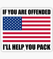Offended USA Flag Help Pack Sticker