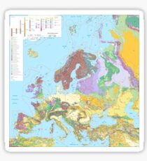 Geological Map of Europe  Sticker