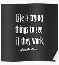 Life is trying things Poster
