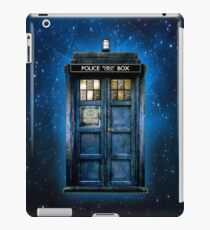 Phone booth with Yellow stained glass windows iPad Case/Skin
