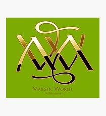 Majestic World Logo GOLD on KAKI by MAMARTIN Photographic Print