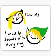 frends with evry dog Sticker
