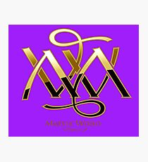 Majestic World Logo GOLD on PURPLE OF MAMARTIN Photographic Print