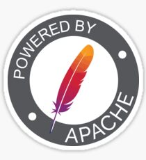 powered by apache Sticker