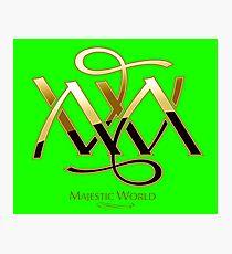 Majestic World Logo GOLD on GREEN by MAMARTIN Photographic Print
