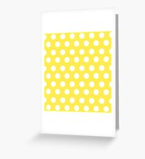 Polka over Light Yellow (small dots) Greeting Card