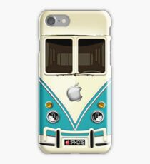 kawaii Blue teal mini bus iphone case iPhone Case/Skin