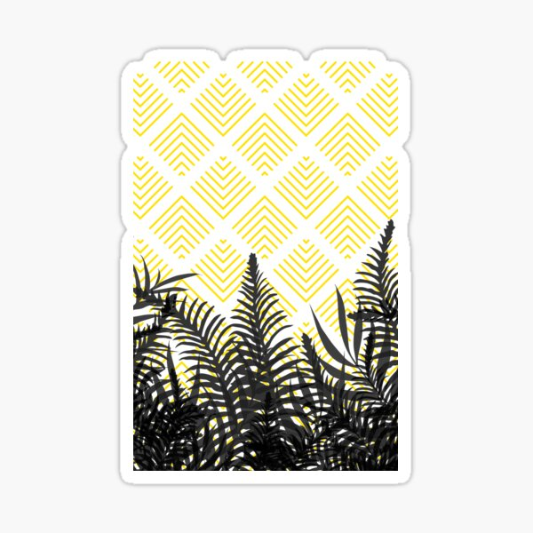 Tropical Ferns on Pattern #redbubble #decor #buyart Sticker