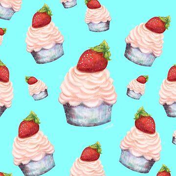 Blue Sky Cupcakes by sarahmwall