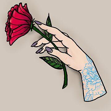 Tattooed Hand with Poppy by autumnxdawn
