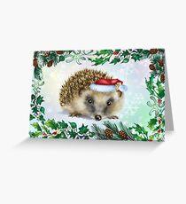 Hedgehog Festive card Greeting Card