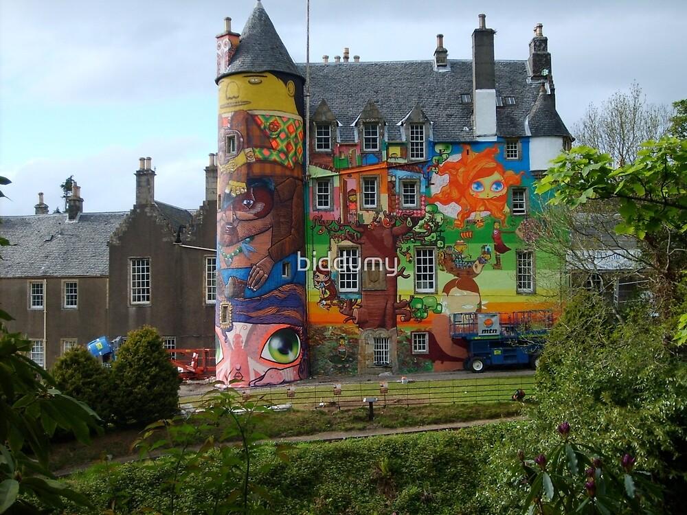 Kelburn Castle Graffiti Project  by biddumy