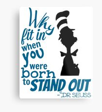 Dr. Seuss Quotes Metal Print