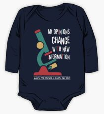 My Opinions Change with New Information: March for Science 2017 Kids Clothes