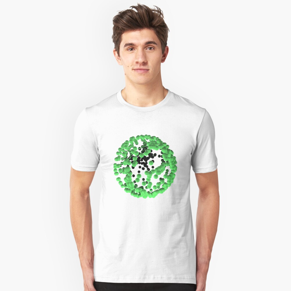 Green bubbles sphere Unisex T-Shirt Front