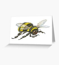One little buzzy bee, watercolour painting Greeting Card