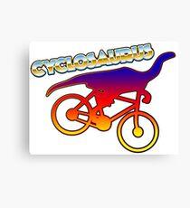 Cycle humor Canvas Print