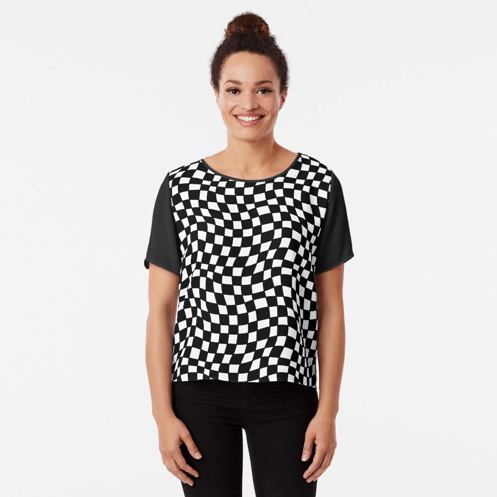 Geometric Visual Illusion  Chiffon Top