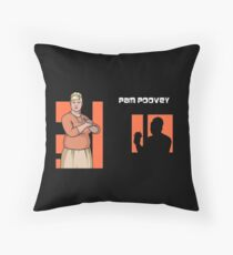 Pam Poovey, Archer Throw Pillow