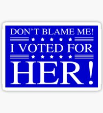 Voted For Hillary Clinton Sticker