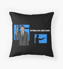Sterling Archer Throw Pillow