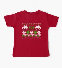 Funny Ugly Christmas Holiday Sweater Design Baby Tee