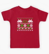 Funny Ugly Christmas Holiday Sweater Design Kids Tee