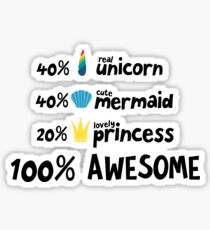Unicorn mermaid and princess Ra3ds Sticker