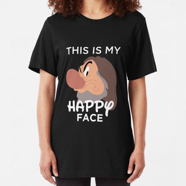 Happy Face Slim Fit T-Shirt