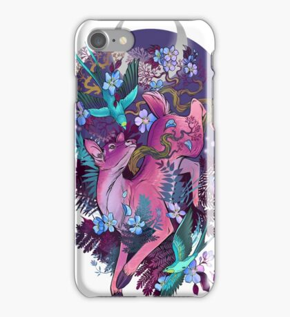 Mystic Midnight Pink White Tail Doe iPhone Case/Skin