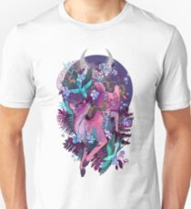 Mystic Midnight Pink White Tail Doe Unisex T-Shirt
