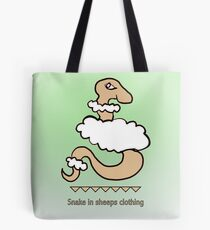 Snake in sheeps clothing Tote Bag