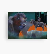 Battle of the apes Canvas Print