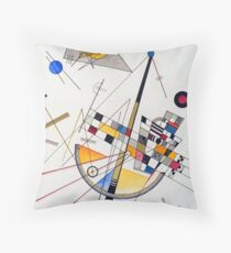 Wassily Kandinsky Delicate Tension Throw Pillow