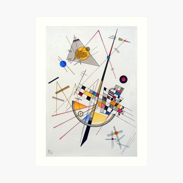 Wassily Kandinsky delicada tensión Lámina artística
