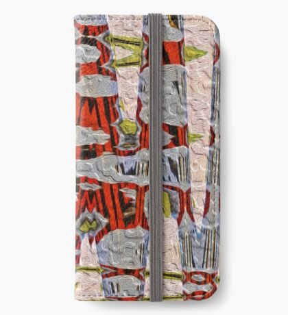 Tiger Stripe Abstract Artwork iPhone Wallet
