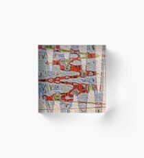 Tiger Stripe Abstract Artwork Acrylic Block