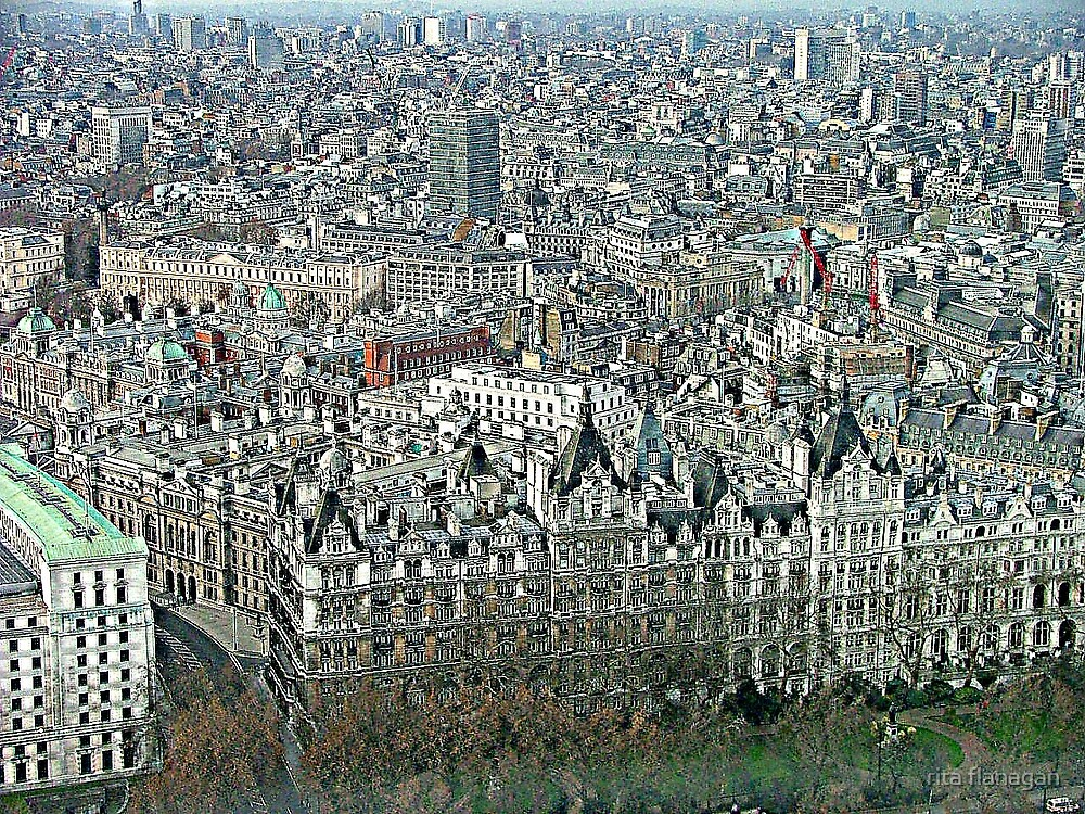 View from London eye by rita flanagan
