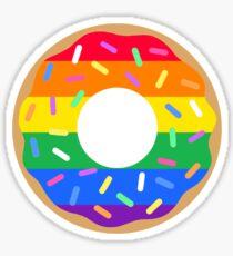 Gay Pride Flag Donut Sticker