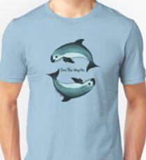 """Spiraling"" vaquita porpise (Critically Endangered Species) art by Amber Marine  Unisex T-Shirt"