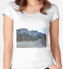 Winter Landscape Near Tolmezzo Women's Fitted Scoop T-Shirt