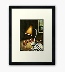 hold the phone Framed Print