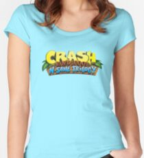 CRASH BANDICOOT LOGO Women's Fitted Scoop T-Shirt