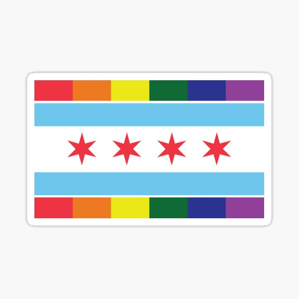 Chicago Pride Flag 2017 Sticker