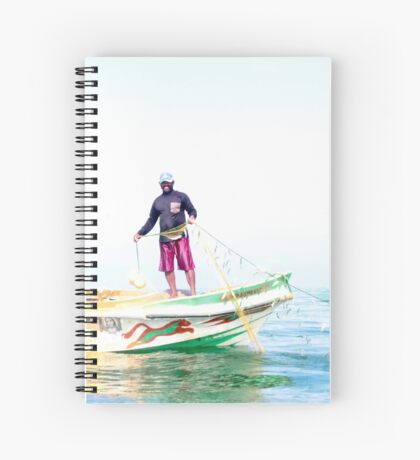 Fishing for sardines Spiral Notebook