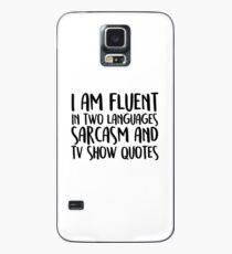 Fließende Sarkasmus- und TV-Show-Zitate Hülle & Klebefolie für Samsung Galaxy