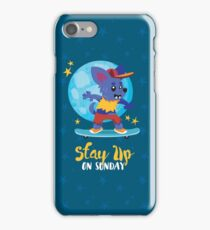 Stay Up on Sunday iPhone Case/Skin